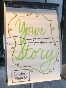 Flipchart with Your Personal Professional Story written on it